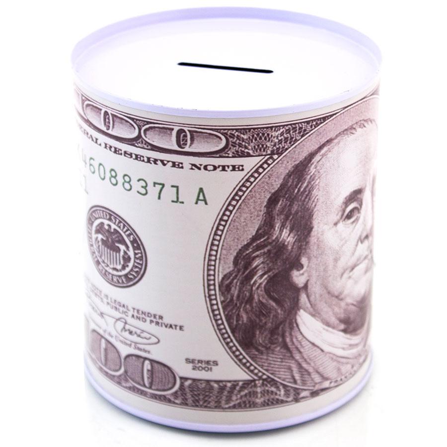 100 dollar bill metal coin bank money pot large non for How to open a tin piggy bank