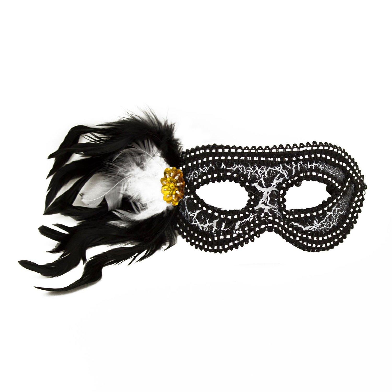 Masquerade Masks Decorations Ideas: Mardi Gras Masquerade Halloween Feather Party Favor