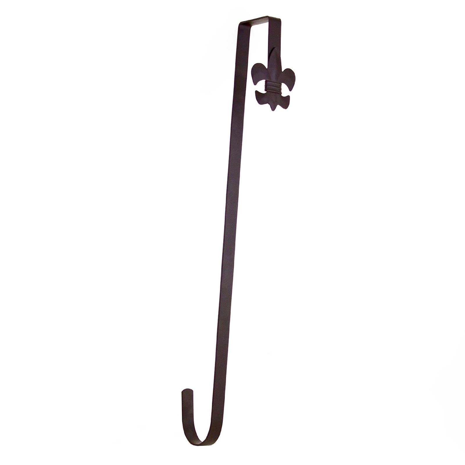 Over the door wreath holder 18 brown metal hook clothes for Decoration hangers