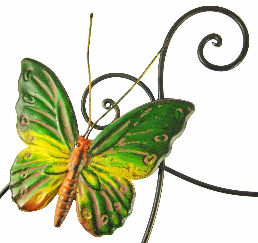 Butterflies metal wall sculpture decor art indoor hang for Butterfly wall art