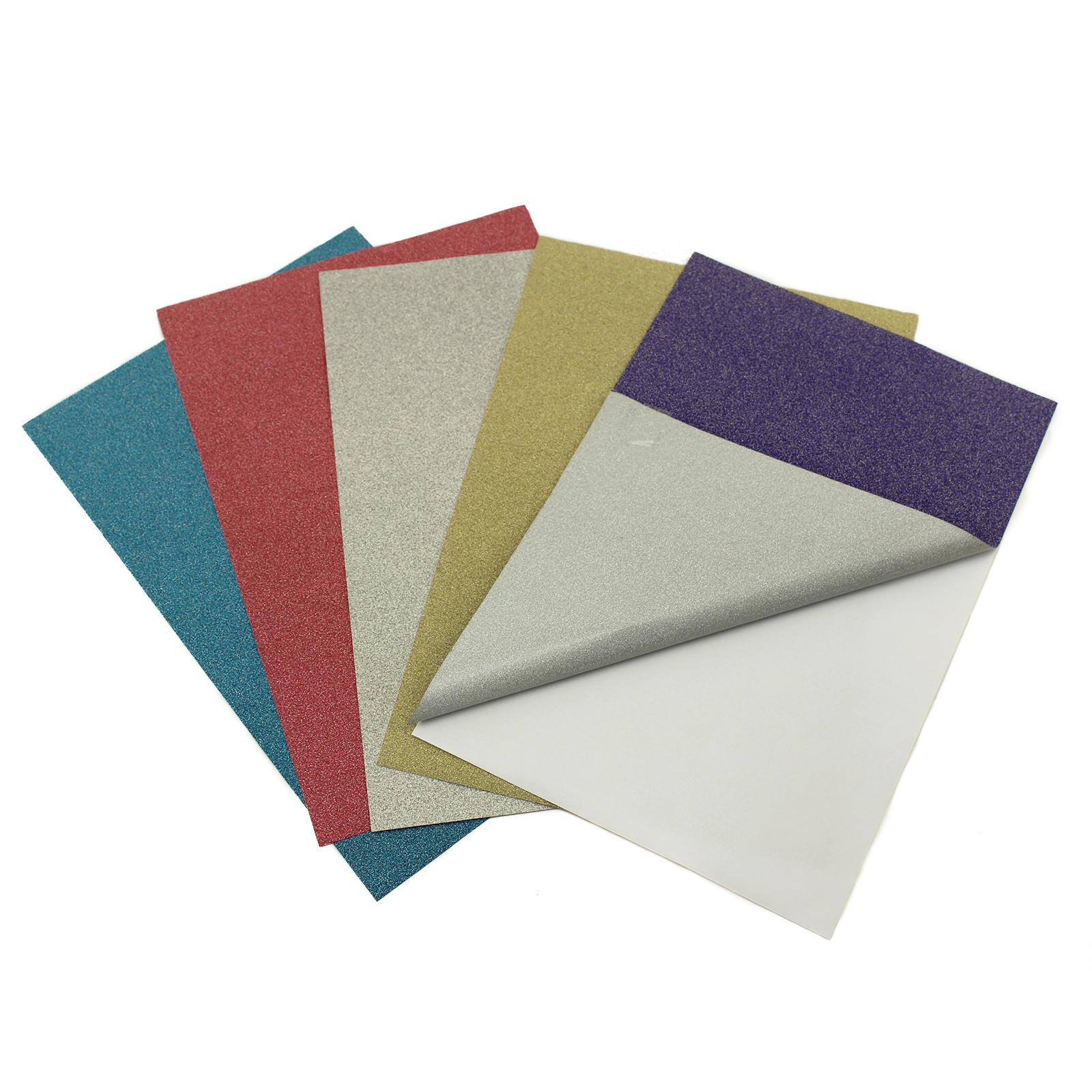 6x9 Adhesive Back Glitter Paper Red Blue Purple Silver