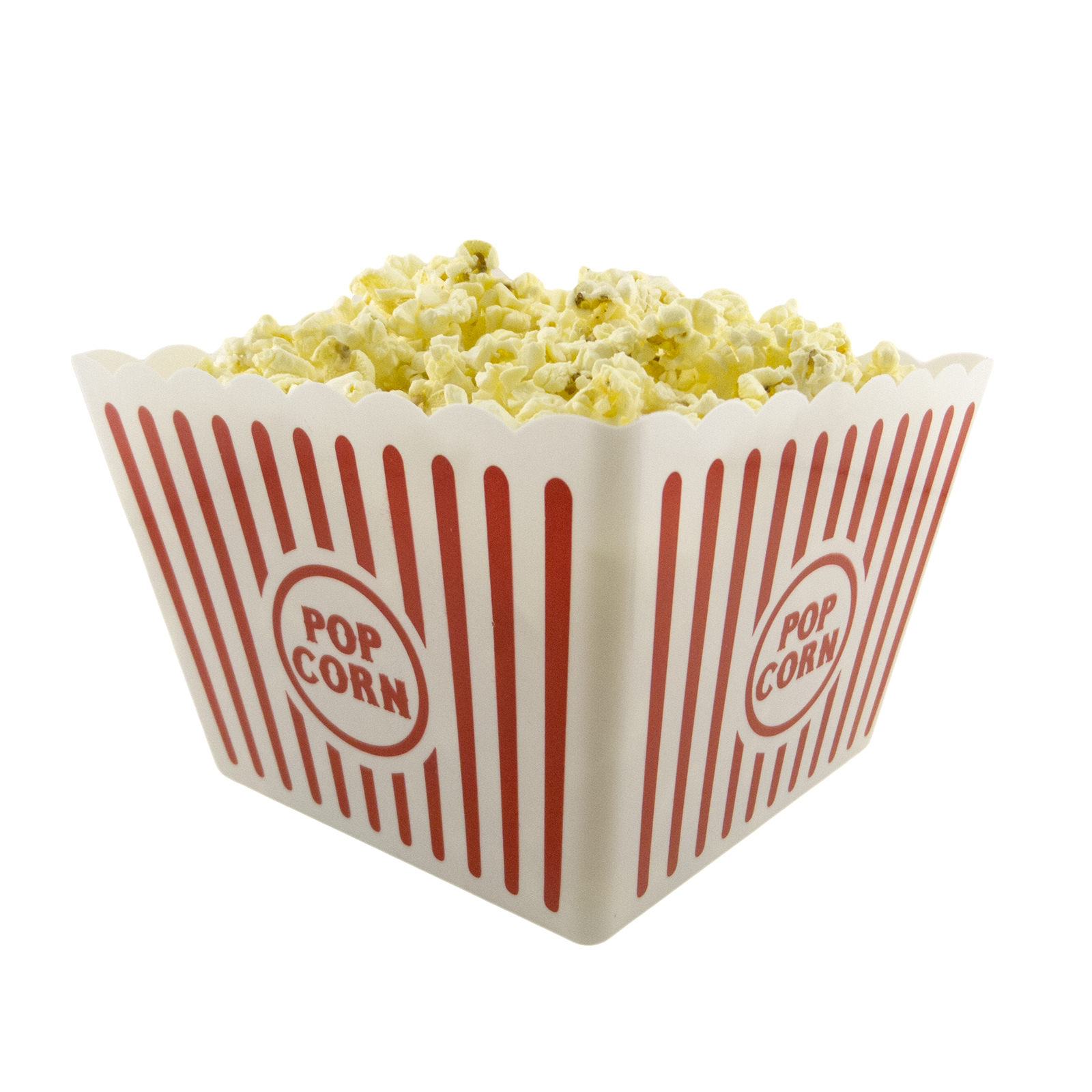 Plastic Popcorn Tub Container Snacks Movie Box Bow Theater