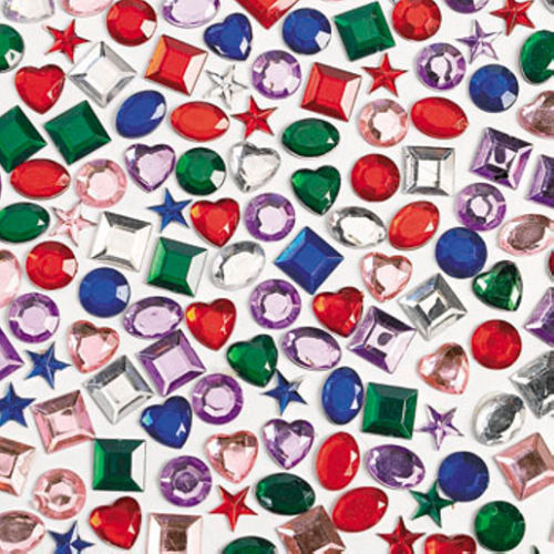 Stick on rhinestones self adhesive crystals gems jewels for Plastic gems for crafts