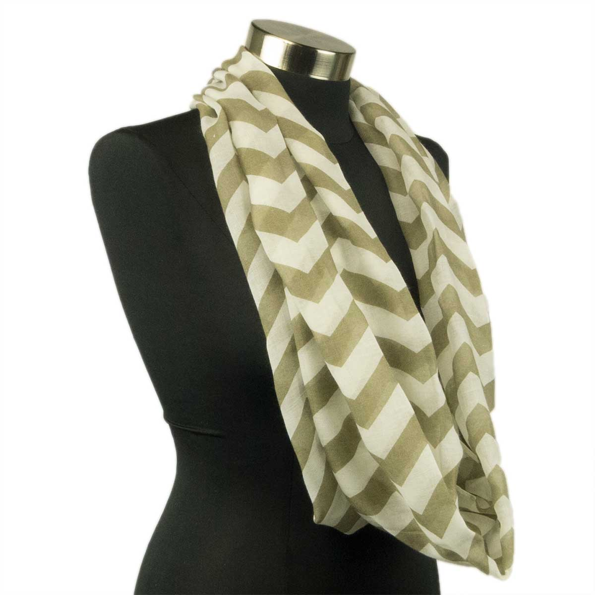chevron sheer infinity scarf soft multi color scarves
