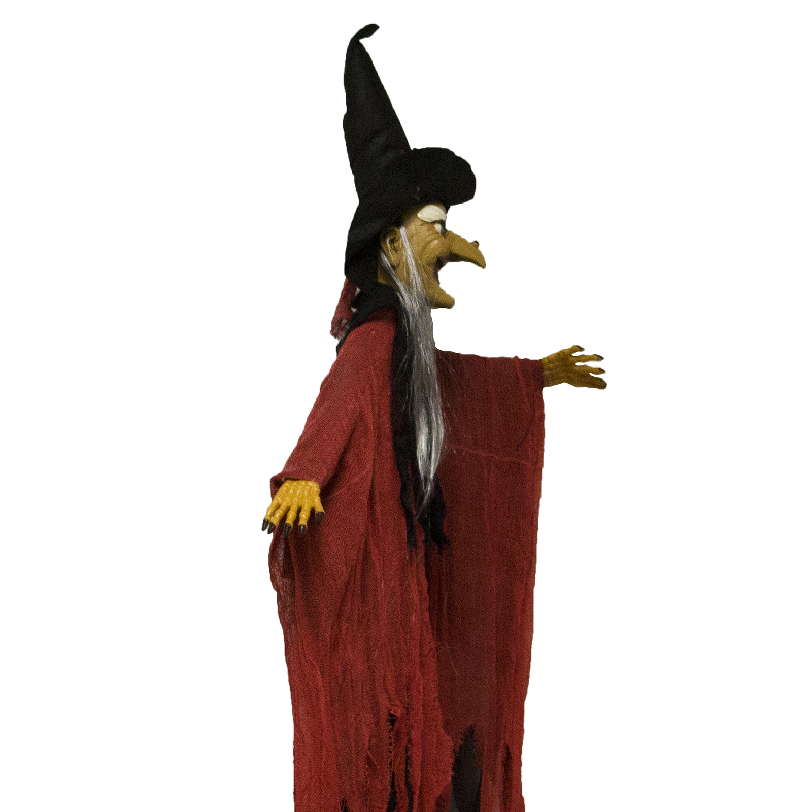 Scary Flashing Howling Light Up Led Hanging Witch Figure