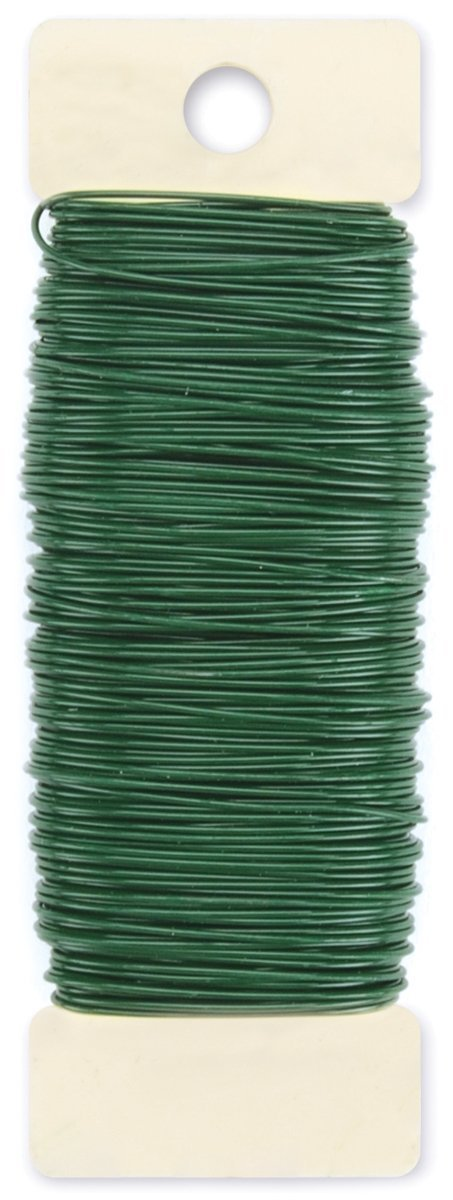 Paddle wire 22 gauge green floral flower craft flexible for 22 gauge craft wire