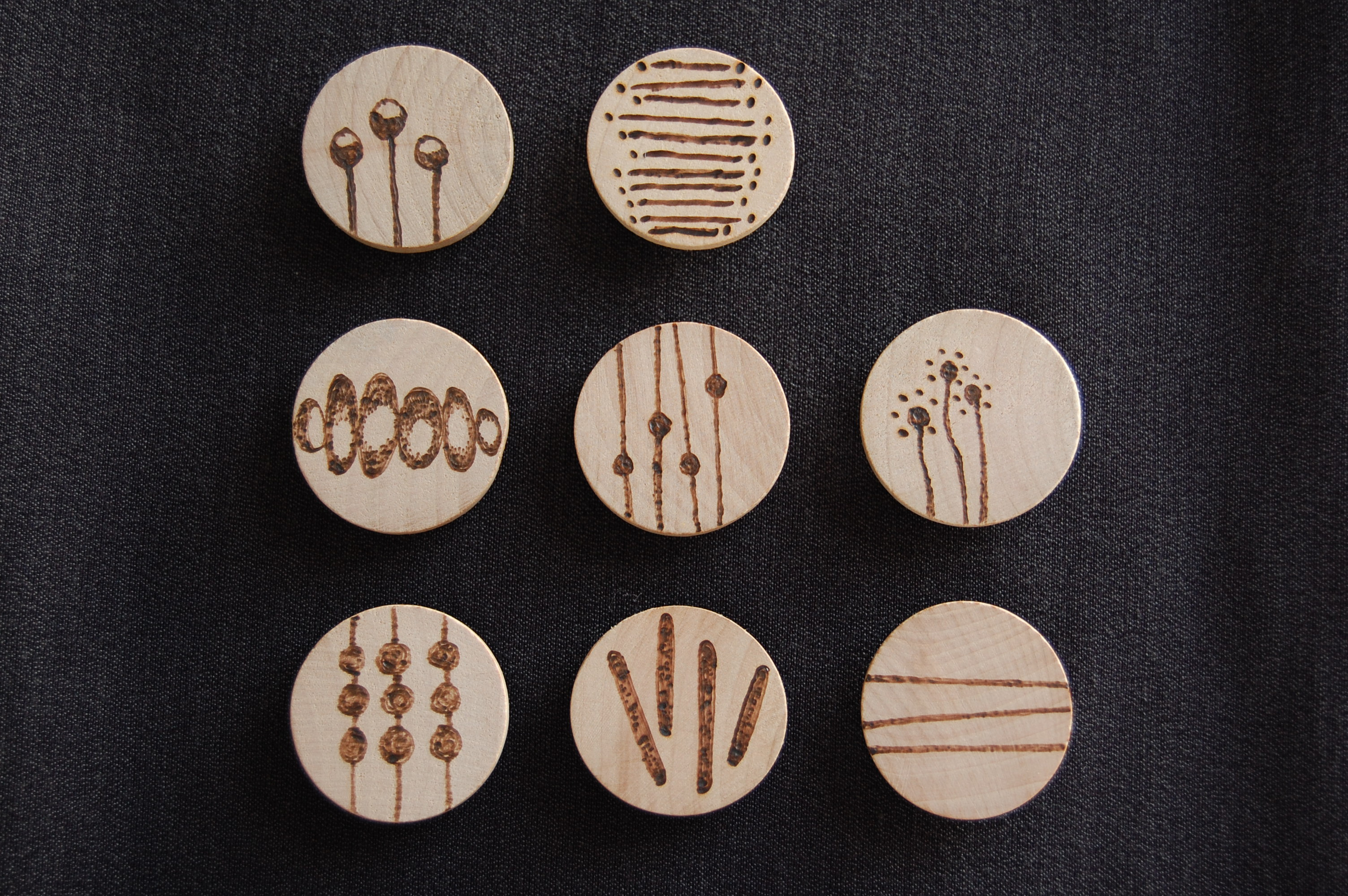 Unfinished wood craft circles wooden circle 1 5 inch for Wood circles for crafts