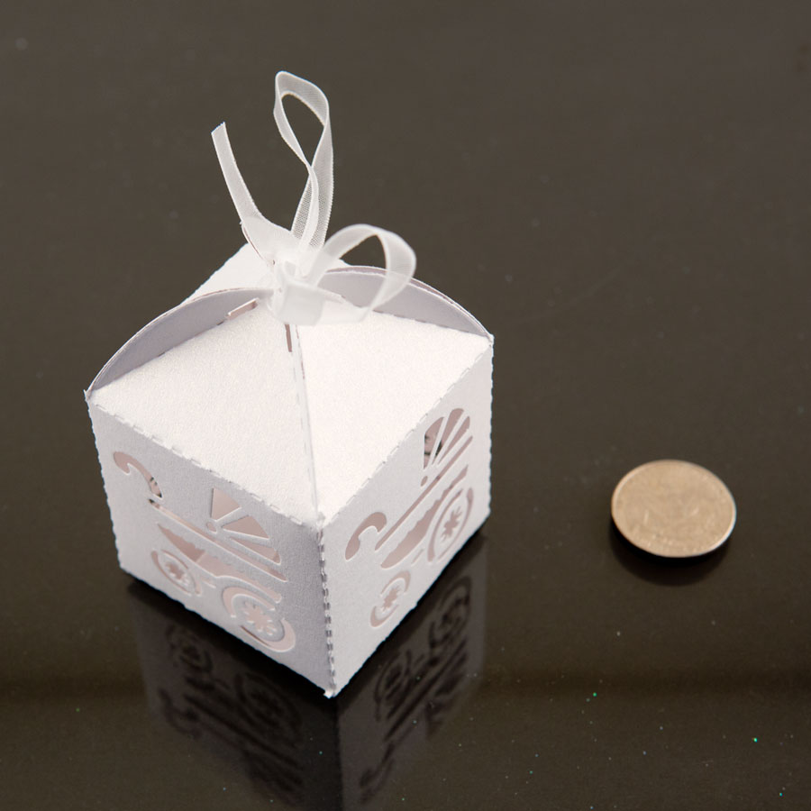 The average discount we found across all deals is %, the largest discount is Lowest price on favor boxes baby shower.