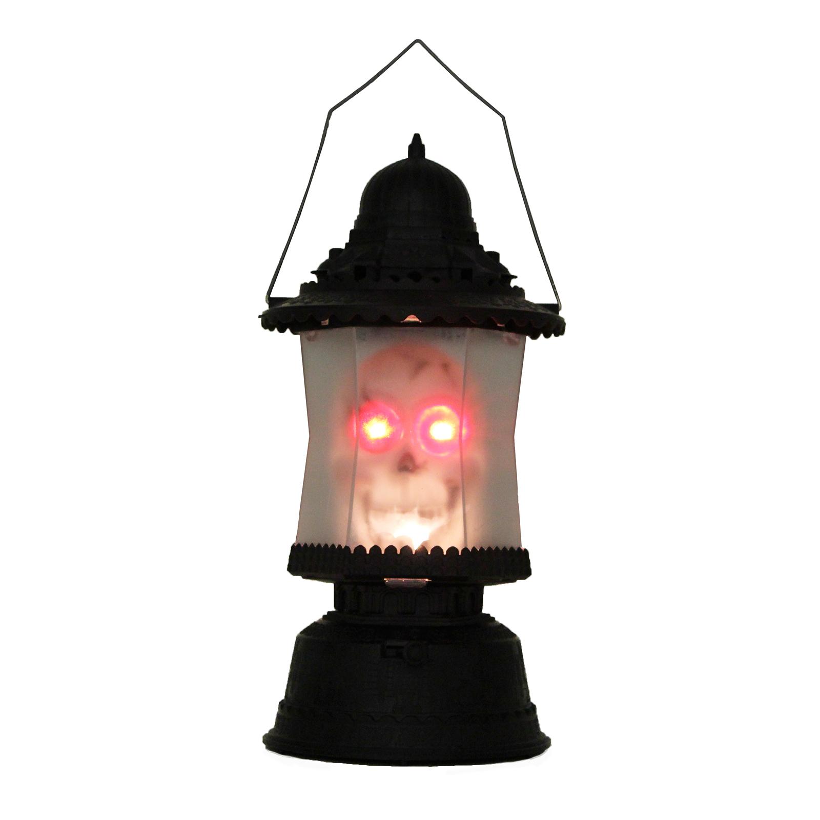 LED Skull Lantern Music Sounds Light up Scary Skeleton Halloween Decoration Lamp