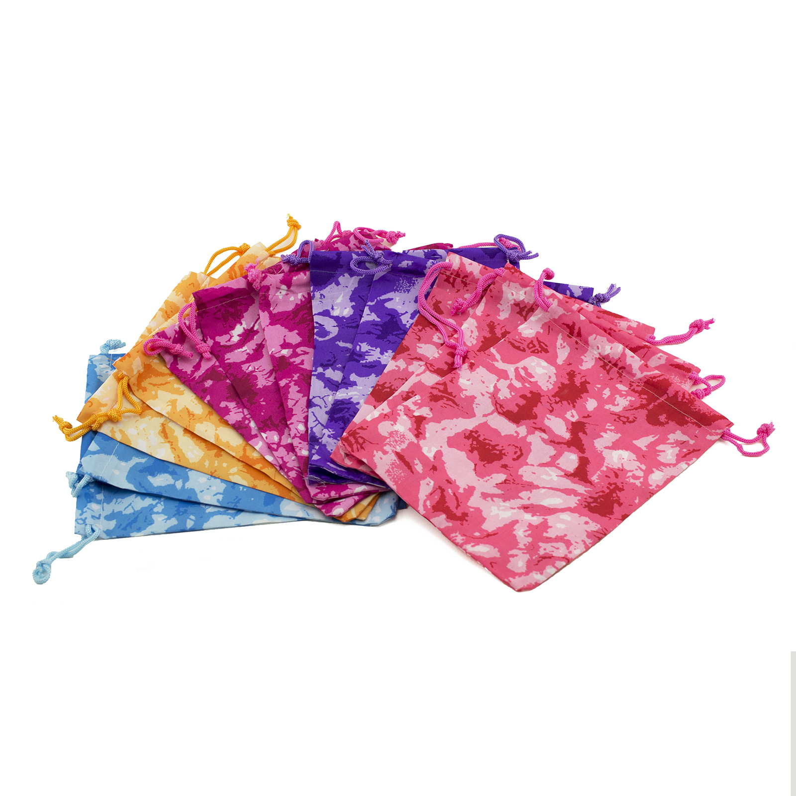 Tie-Dyed Tie Dye Camouflage Drawstring Party Favor Bags ...