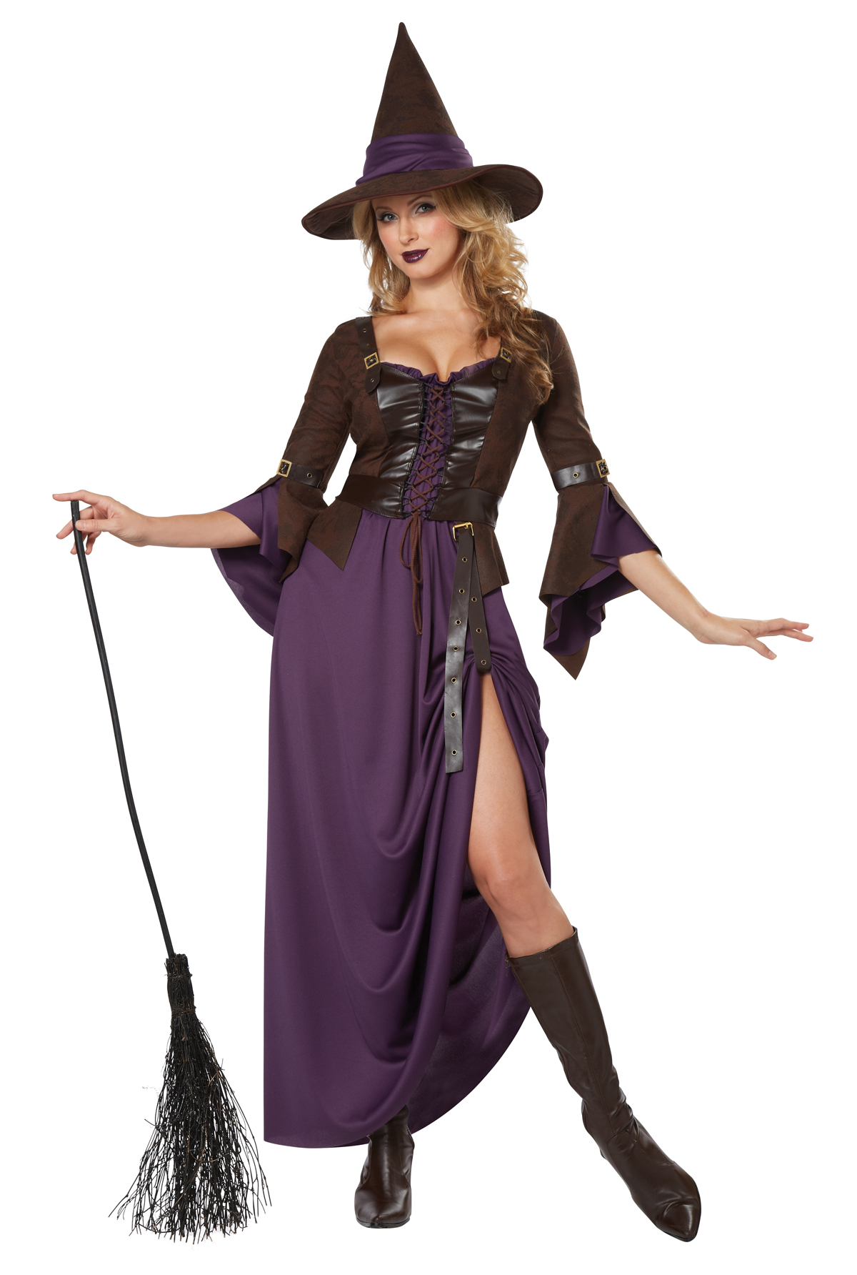women's salem witch halloween adult dress and hat hocus pocus witch