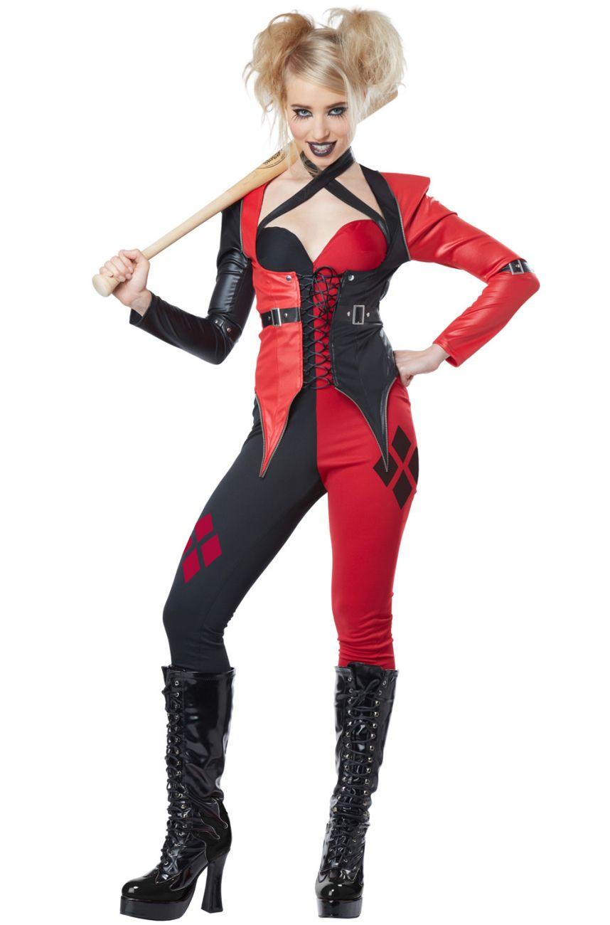 psycho jester comic clown evil suicide squad women's adult halloween