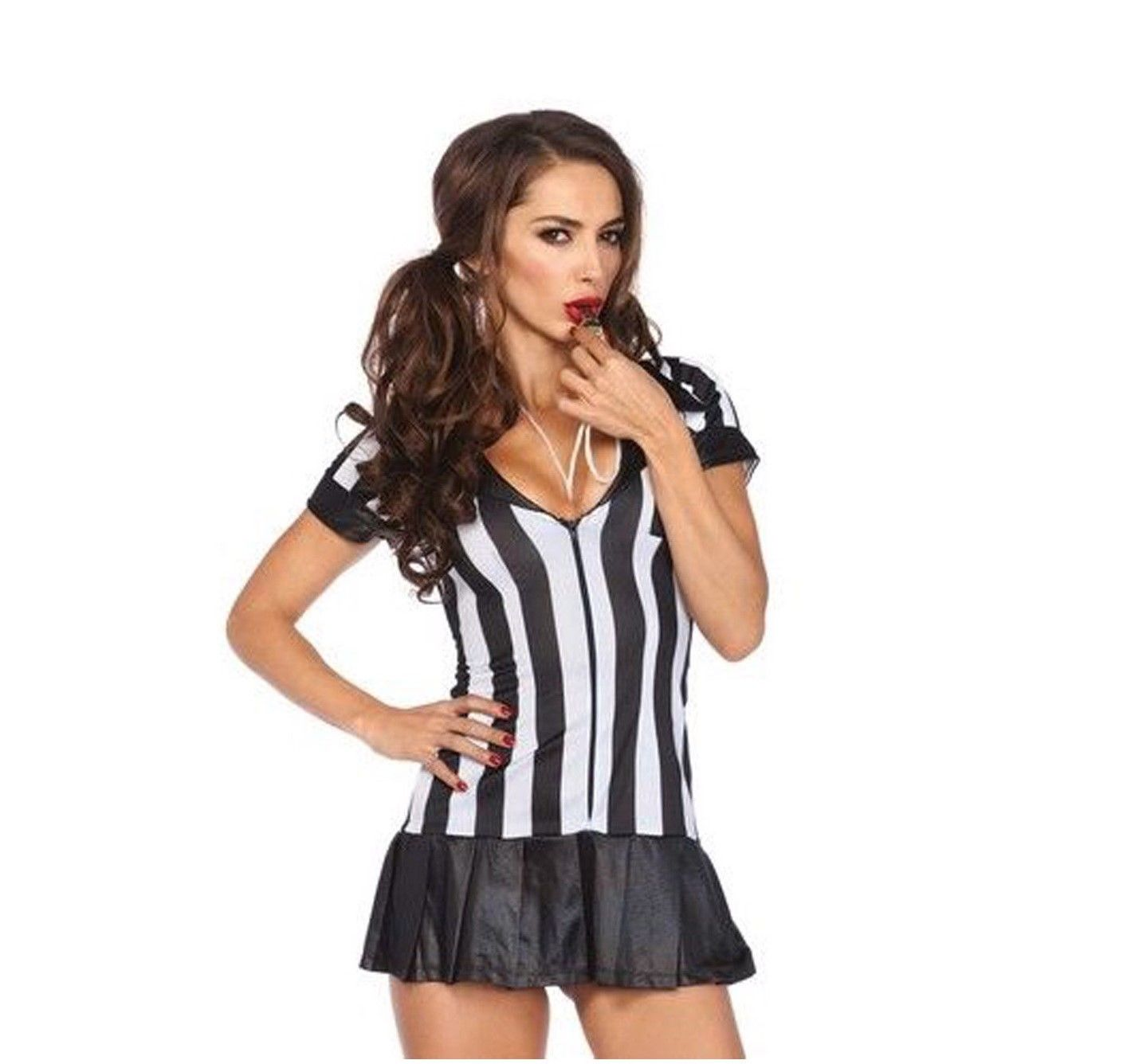 7d07703773279 Women s Game Official Sports Football Sexy Referee Halloween Costume Dress  Set