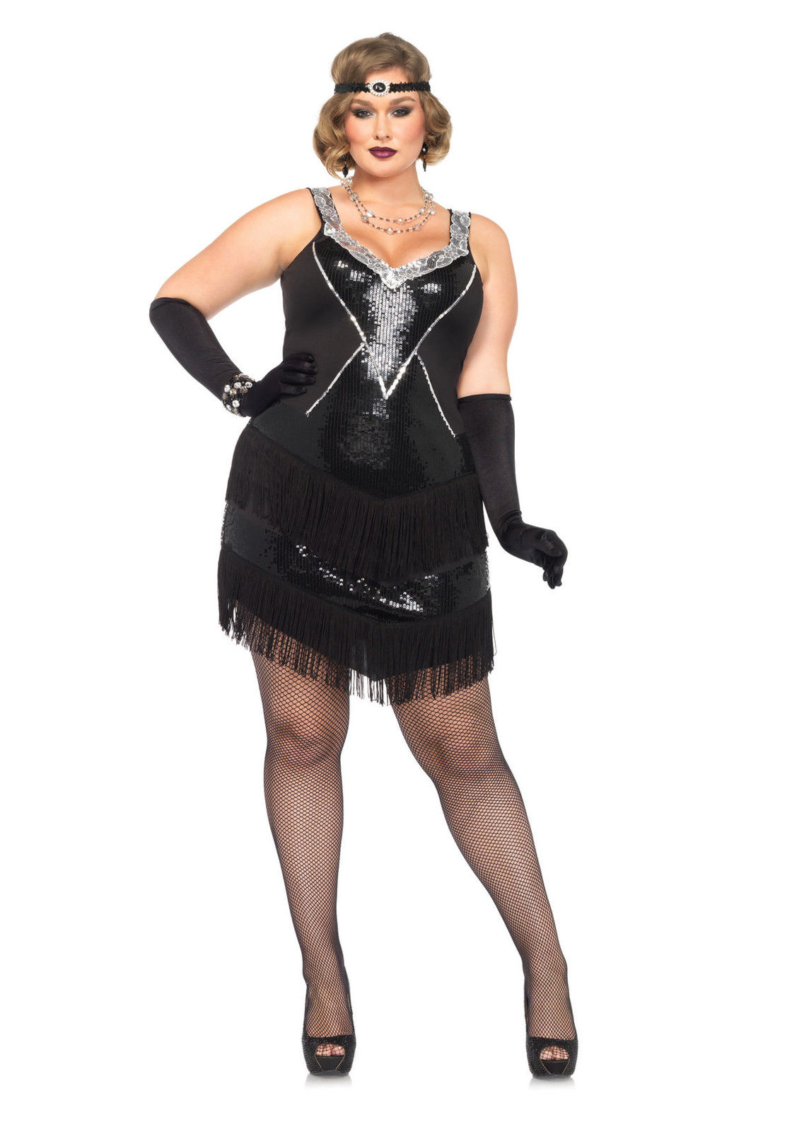 Ifavor123 Womens Plus Size Flapper Glamour 1920s Gatsby