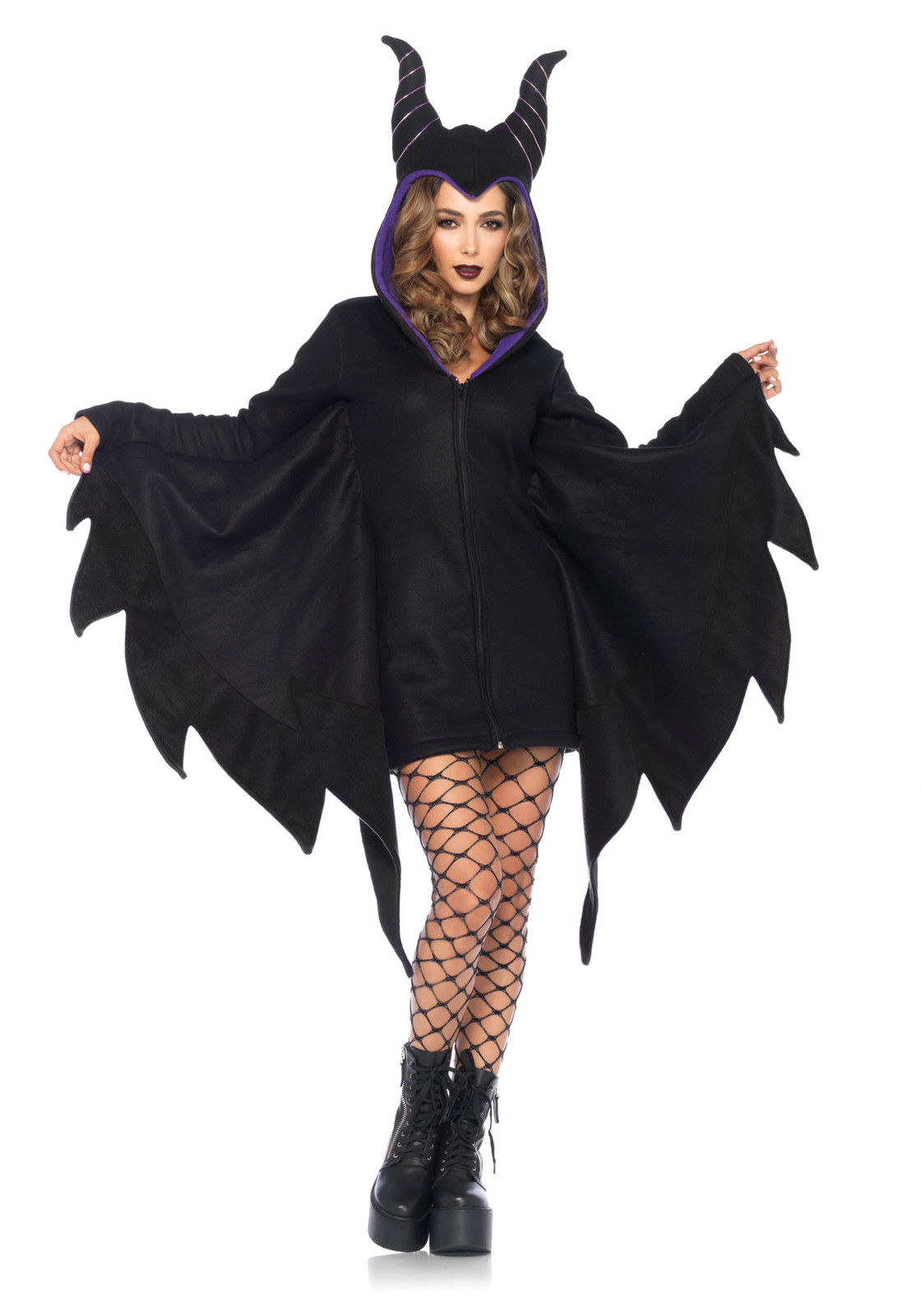 Maleficent Costumes For Halloween | Maleficent Sleeping Beauty Deluxe Black Gown Dress Horns Cozy