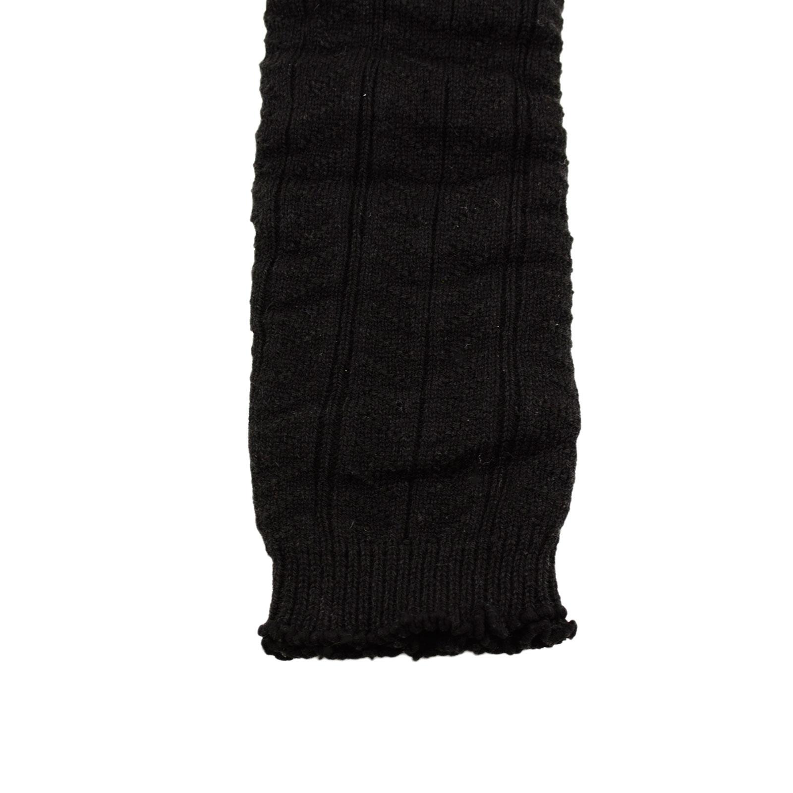 Black Chevron Knit Leg Warmer Pattern Stitch Warm Legging Socks Boot Cuff Lot