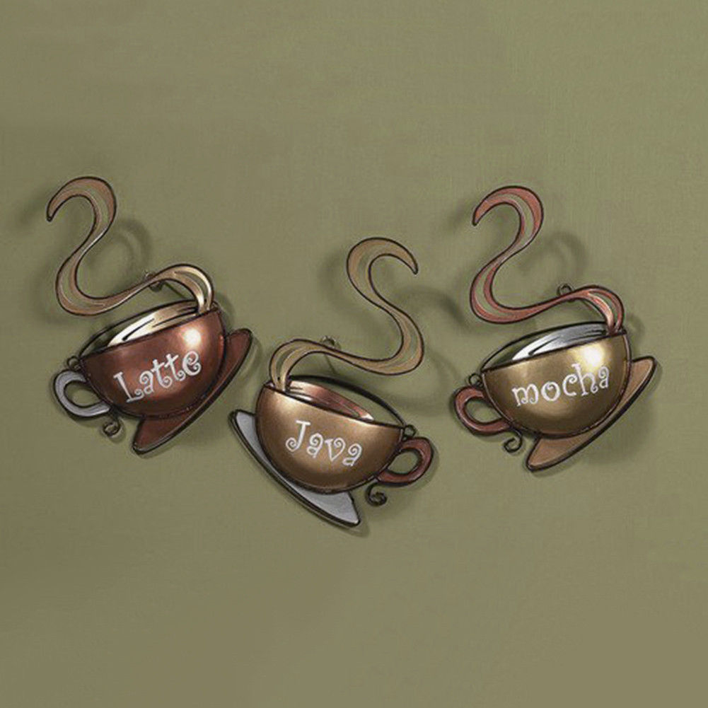 Coffee House Cup Metal Wall Art