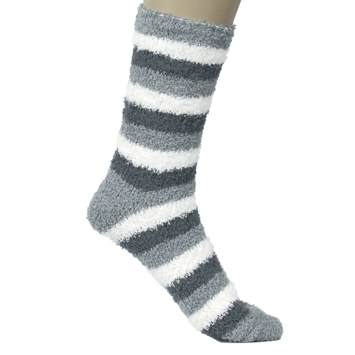 Warm Fuzzy Socks Striped Cool Fluffy Colorful Winter