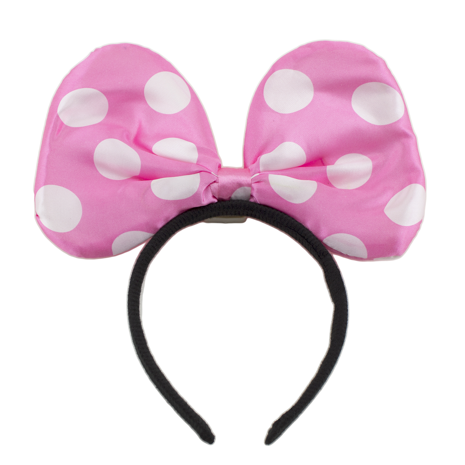 Minnie Mickey Mouse Ears Light Up Bow Headbands Flashing LED Party ...