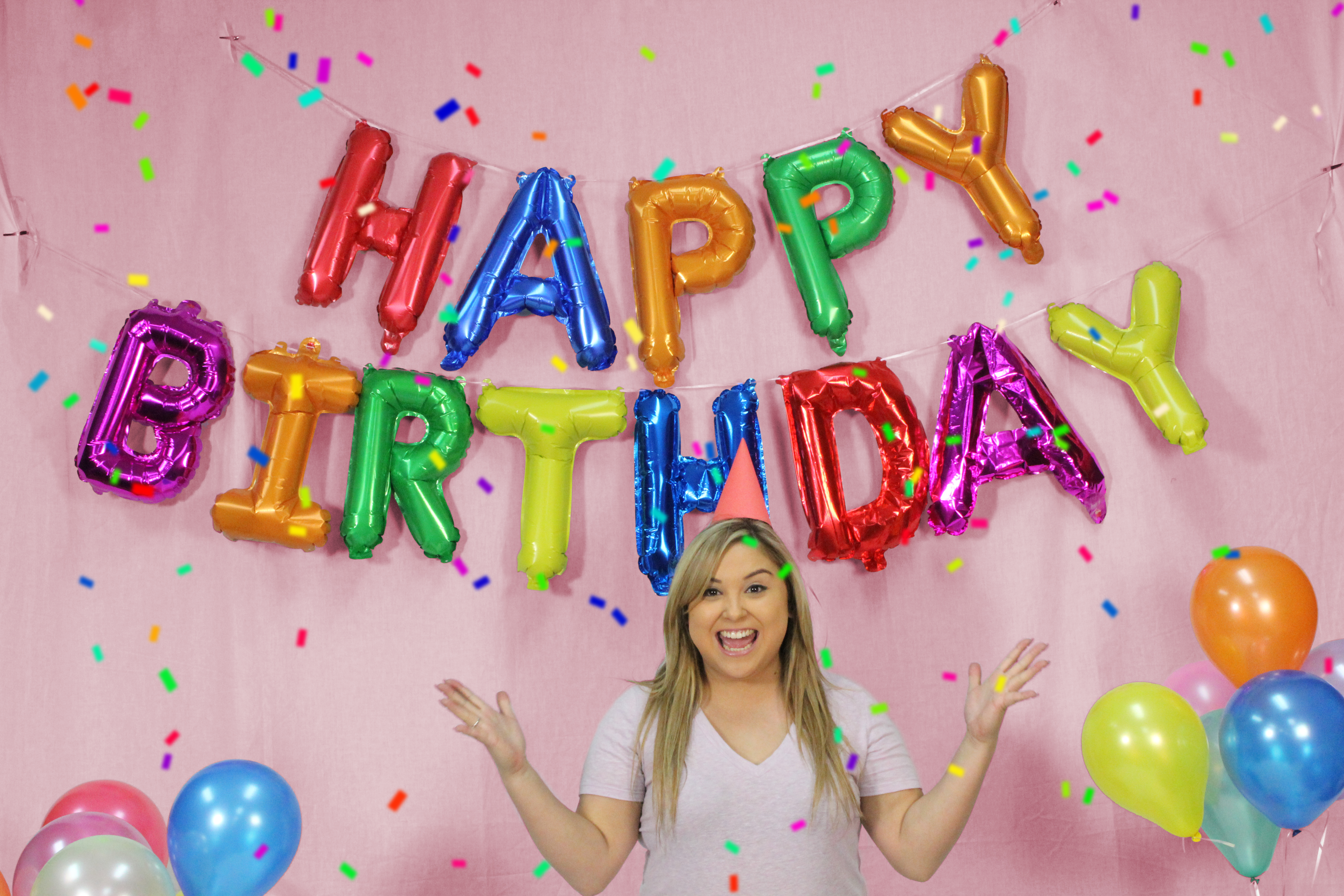 16 13pc Happy Birthday Balloon Banner Foil Letters Party
