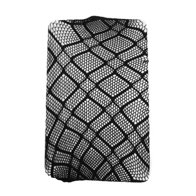 Adorox Black Double Diamond Net Lace Stockings Fishnet Tights One Size Fits All
