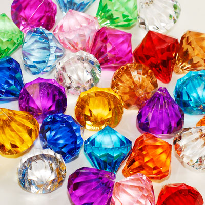 Colorful acrylic diamond gems charms assorted pendants for Plastic gems for crafts