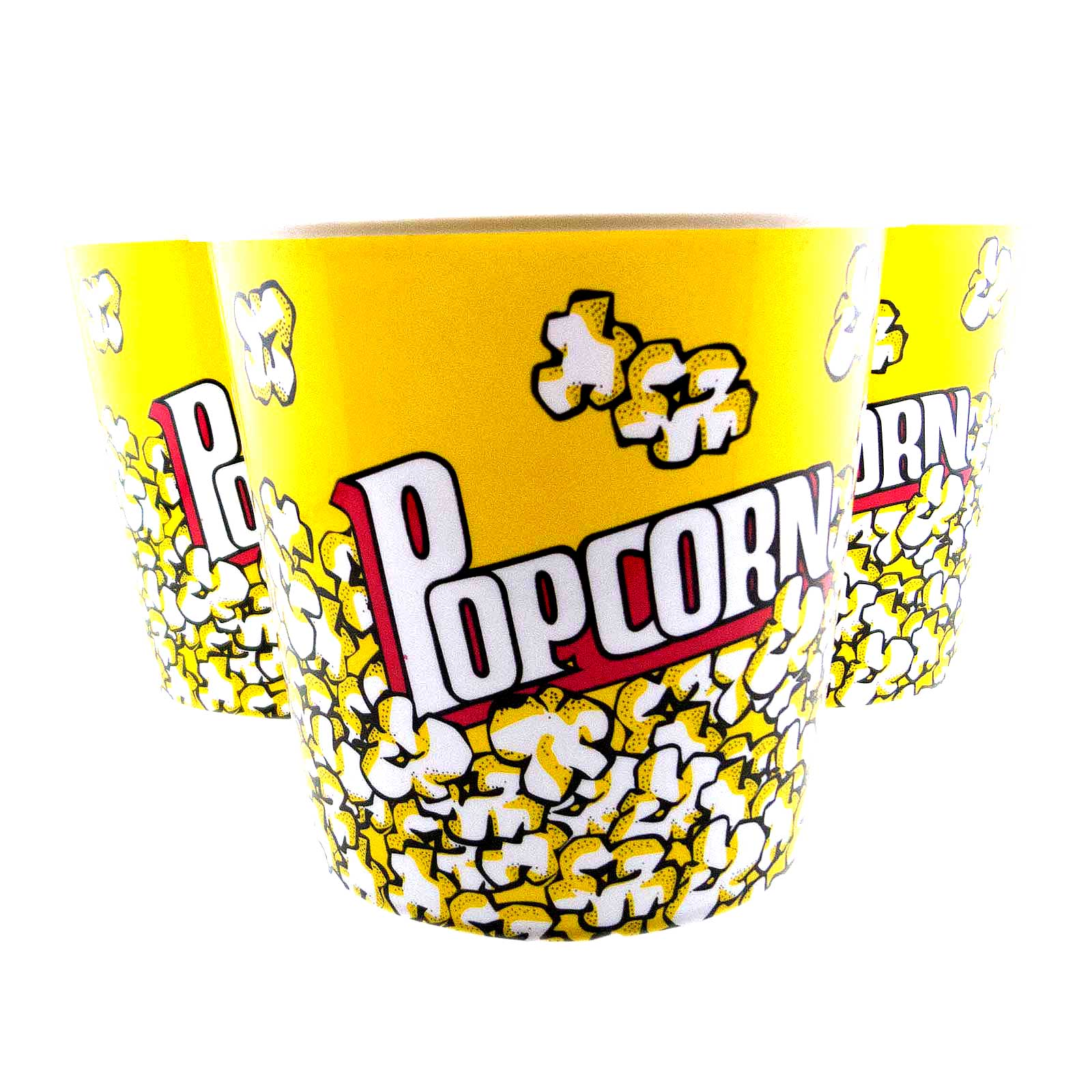 6pc Large Popcorn Plastic Tub Movie Style Snack Bucket