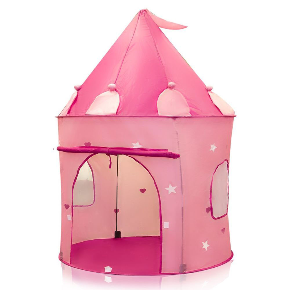 Play Tent Childs Pink Princess Castle Kid Play House Girl Fairy House  sc 1 st  eBay & Play Tent Childs Pink Princess Castle Kids Play House Girl Fairy ...