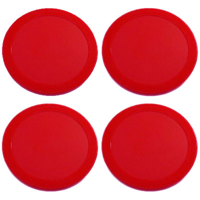 """4pcs 63mm 2.5/"""" 13g FOUR Red Air Hockey Replacement Pucks Holiday Christmas gift"""