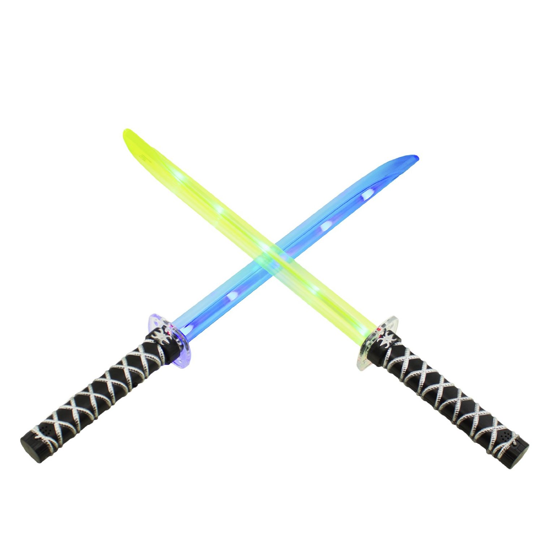 ninja light up led sword sticks sounds halloween costume toys deluxe