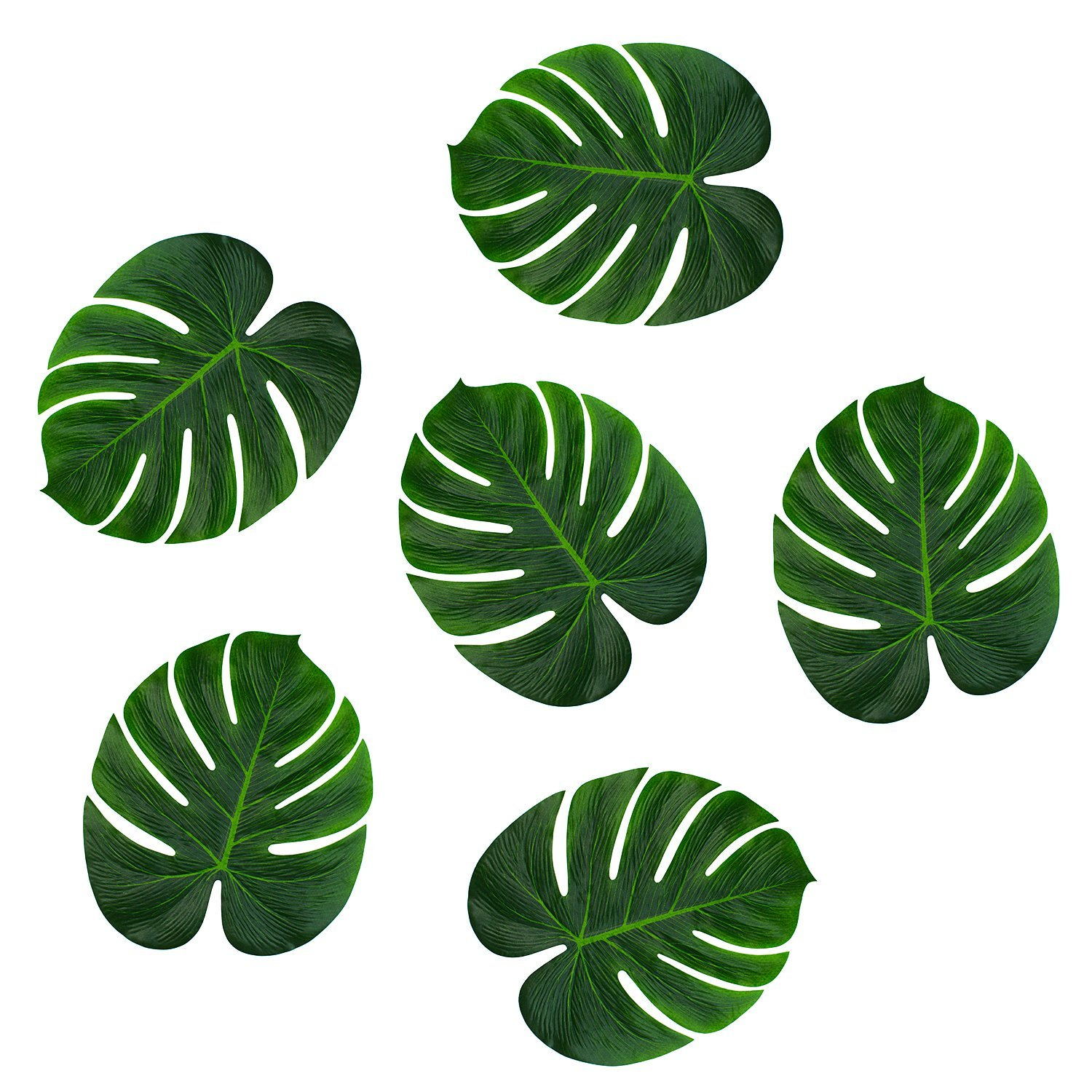 48 Polyester Hawaiian Tropical Palm Leaves ...