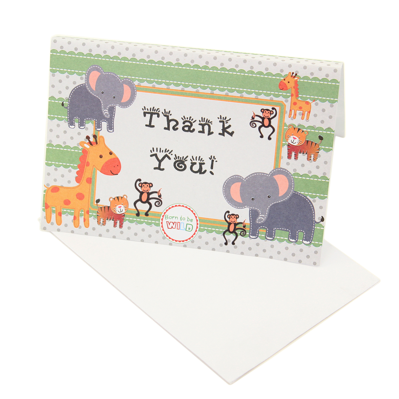 Children\'s Safari Themed Zoo Animal Birthday Baby Shower THANK YOU ...