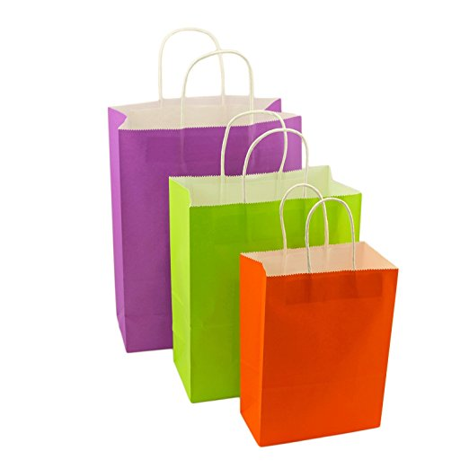 Details About 60pc Small Kraft Rainbow Paper Gift Bags Handle Party Supplies 8 6 X 25 Bulk