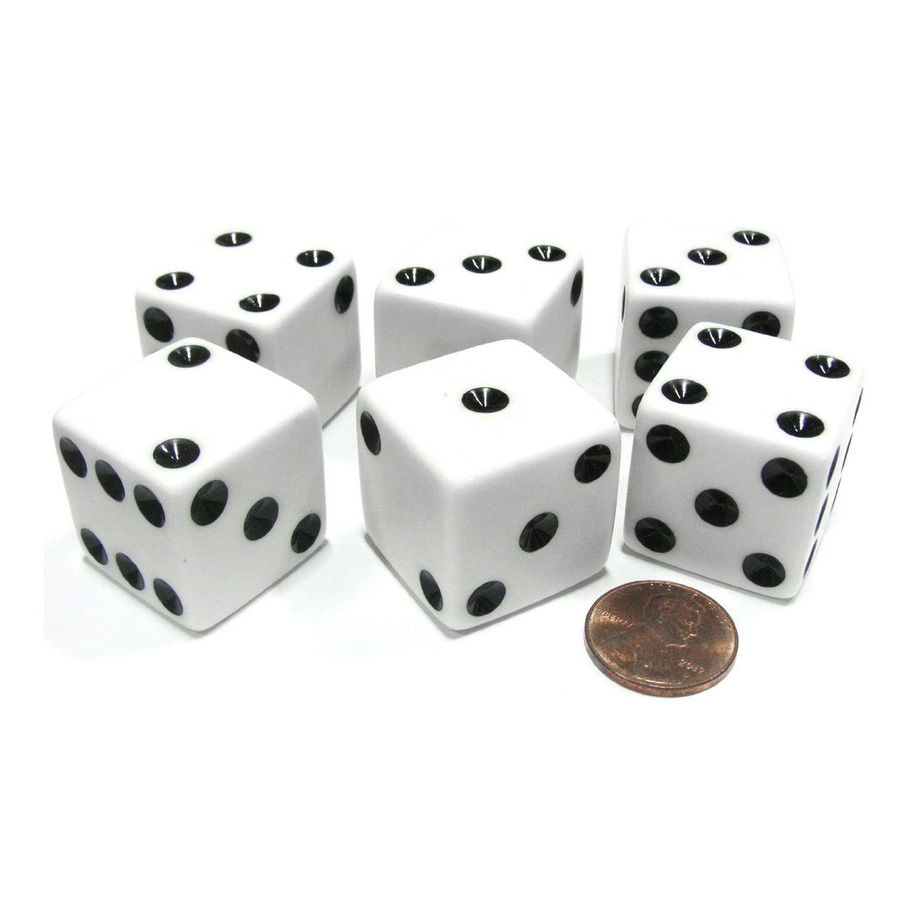 100Pcs D6 Dot Dice 14mm For Board Games Activity Casino Theme Party Games
