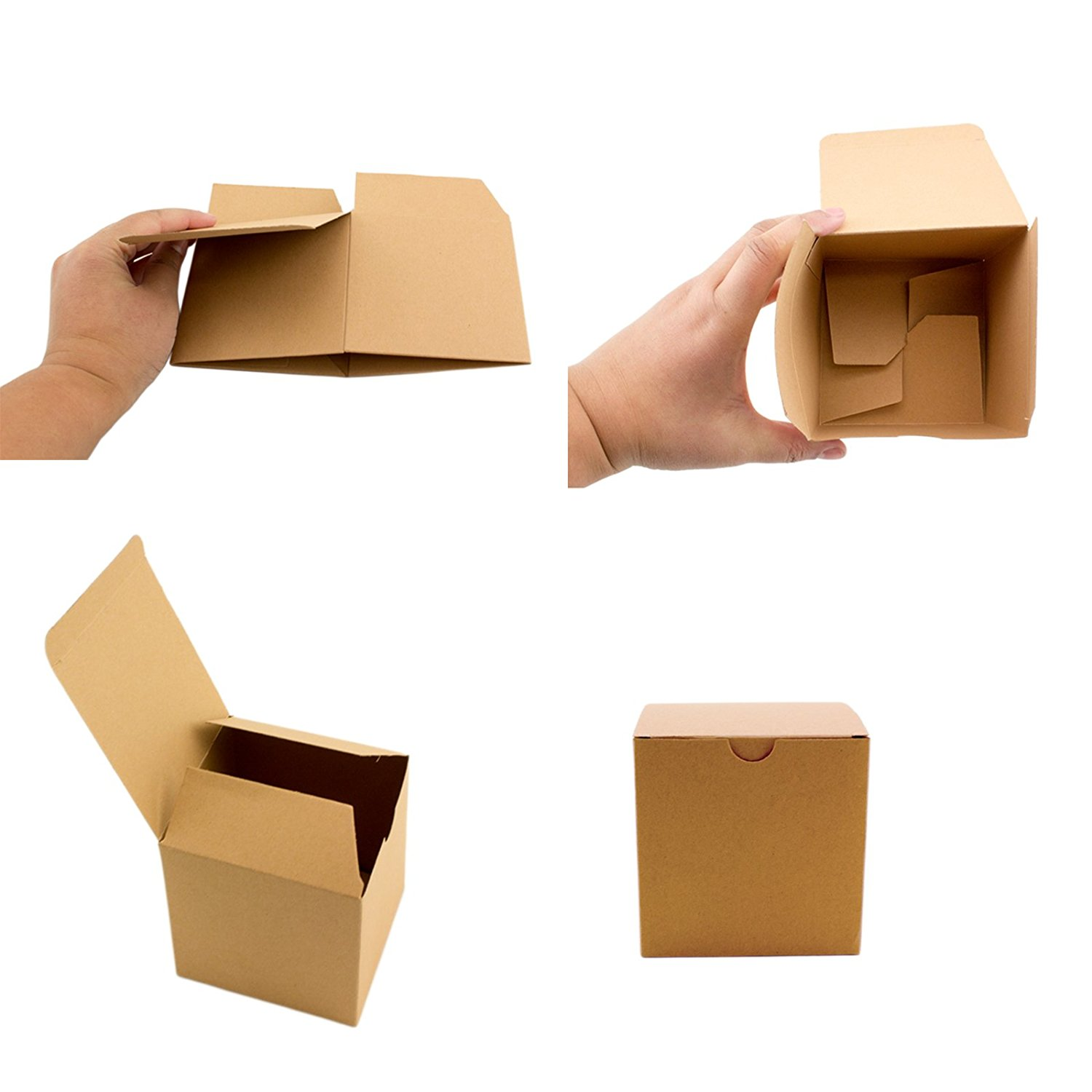 Details About Brown Kraft Paper Boxes Packaging Supplies Party Wedding Gift Boxes Bulk