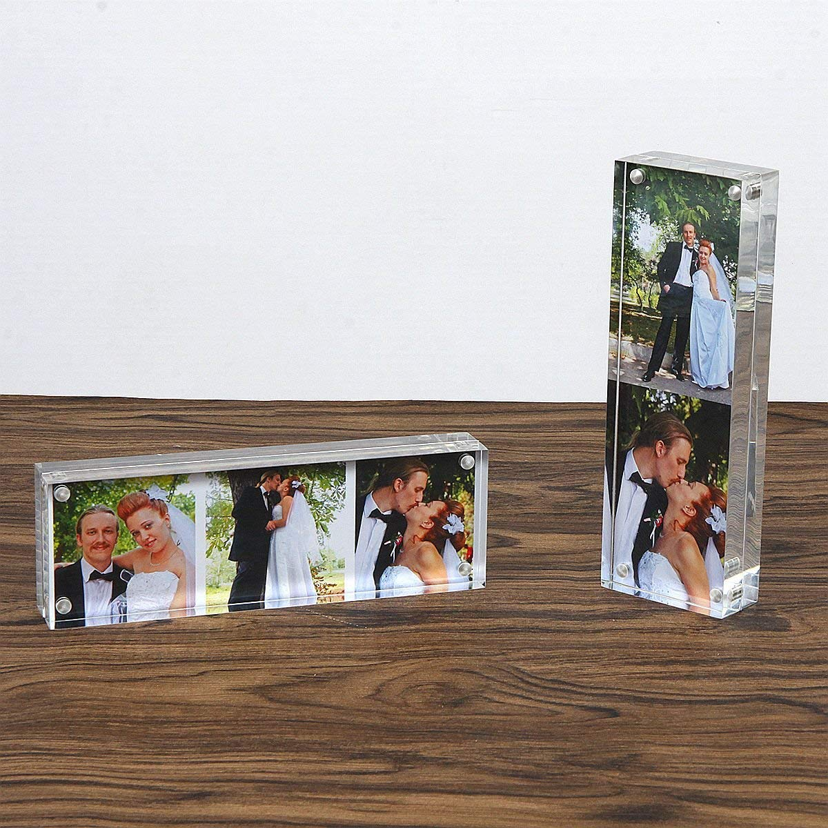 Photo Booth Acrylic 2 X 6 Picture Frame Double Sided Magnetic Frame
