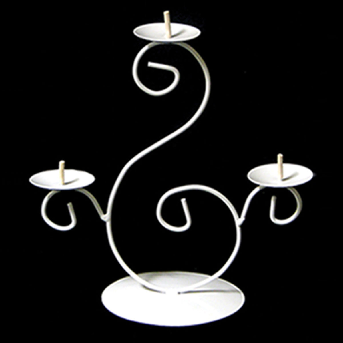 Best Ifavor123 Tall 3 Tier Pillar Candle Holder White Wire Diy 15 00