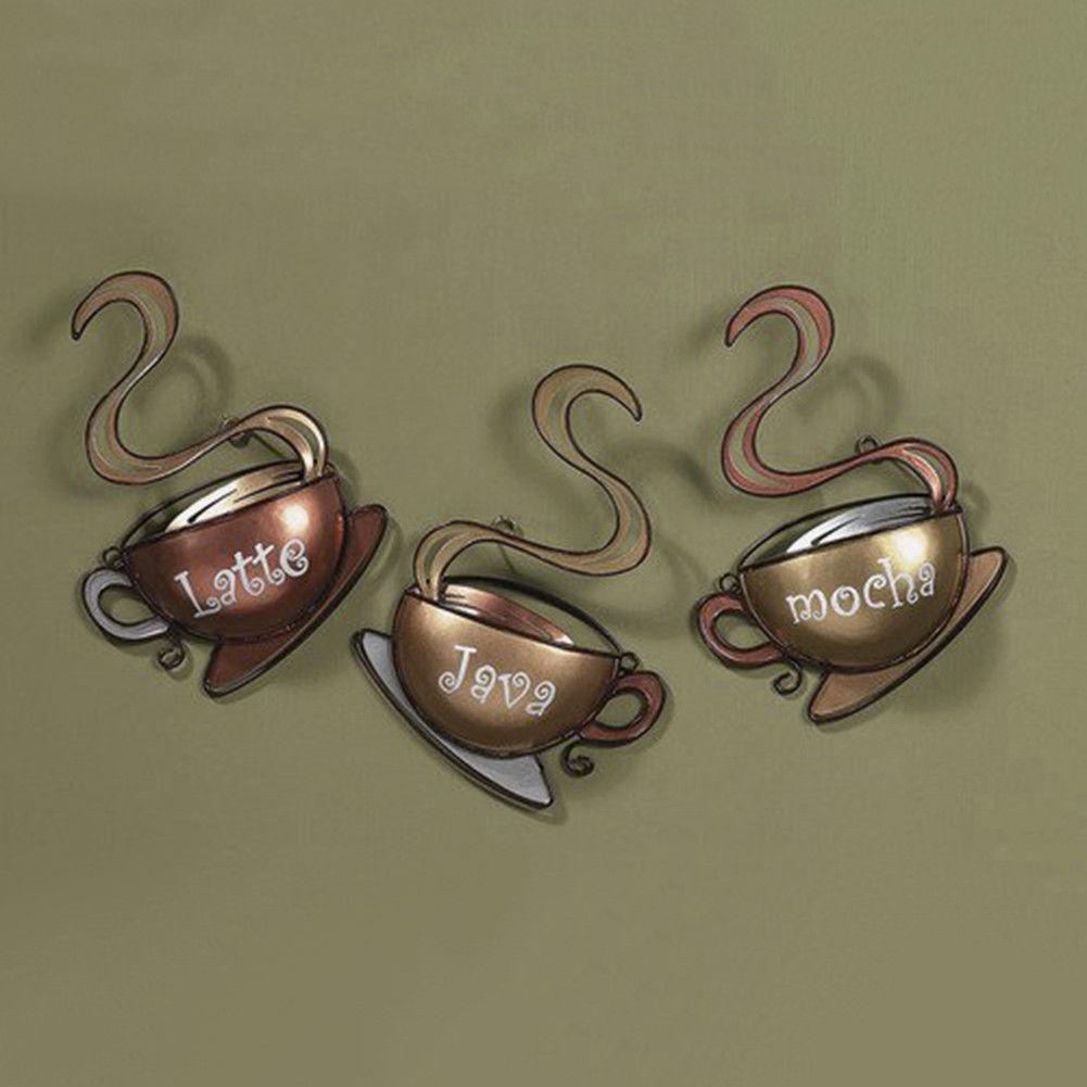 Coffee Bean Tin Sign Vintage Metal