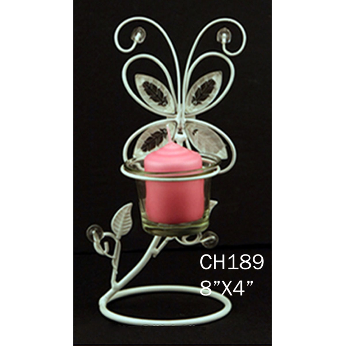 Ifavor123com Butterfly Design Candle Holder White Wire Diy 1699