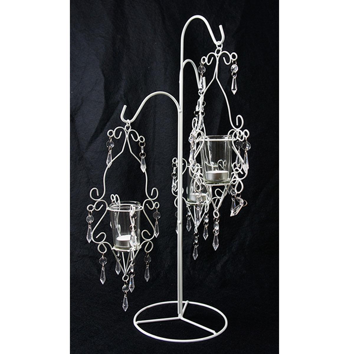 ifavor123.com: Double Pillar Hanging Acrylic Beads Candle Holder $40.00