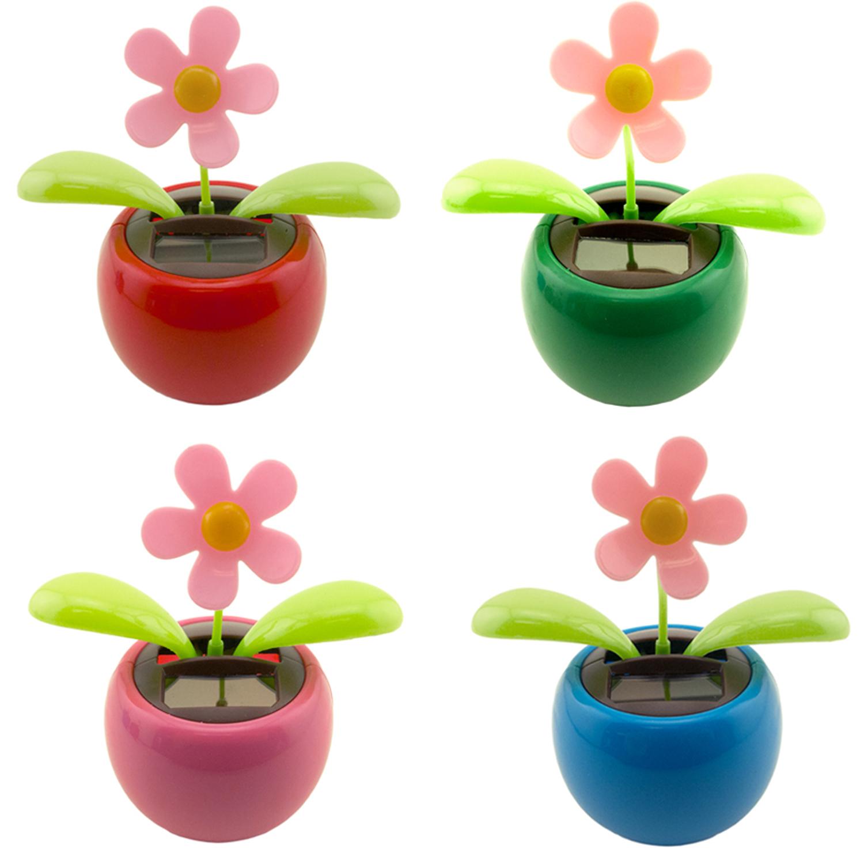 6caeaef0cfc64 Dancing Daisy Solar Powered Flip Flap Toy Flower Bobble Plant Pot Swing
