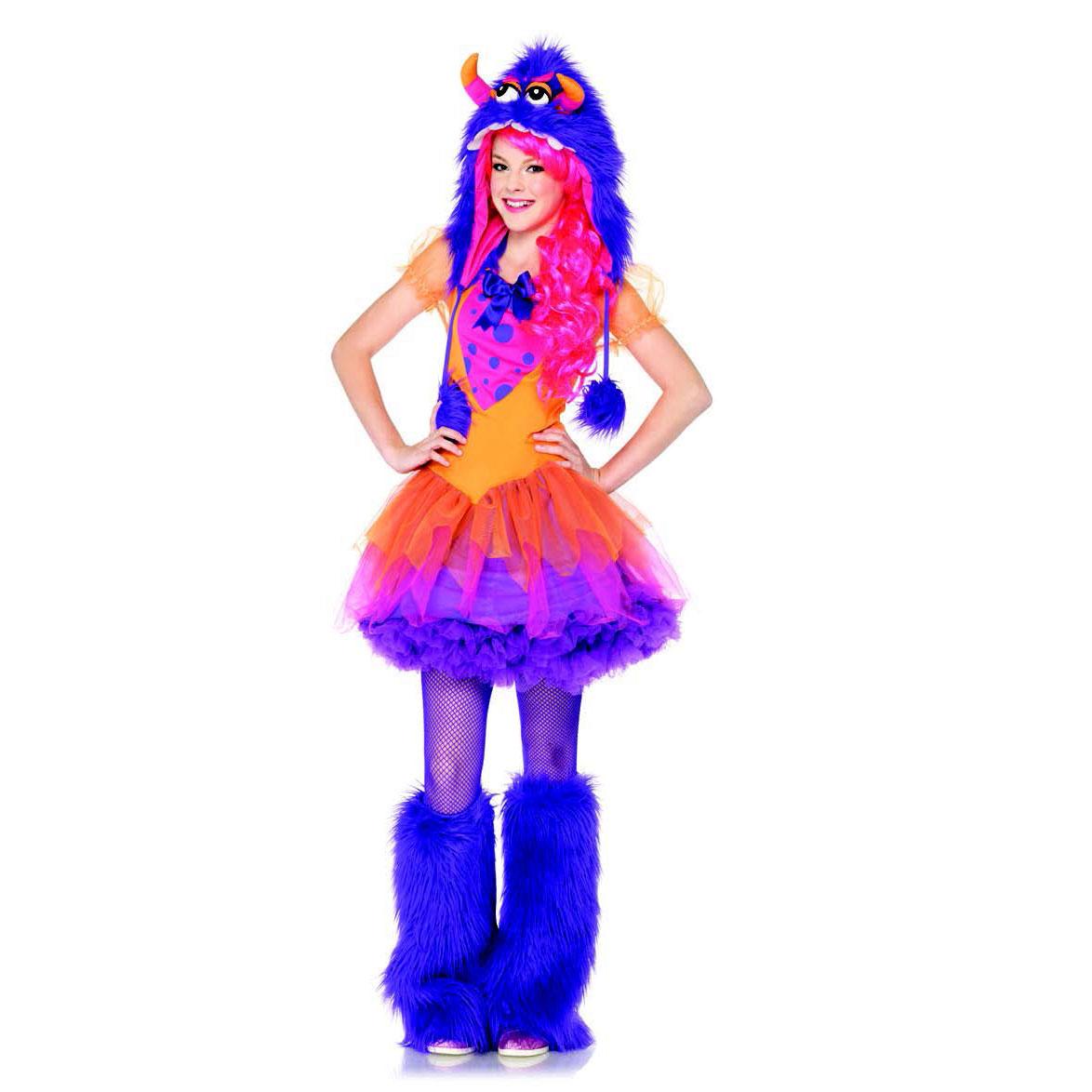 ifavor123 com teen girls furry purple monster dress and hoo kids