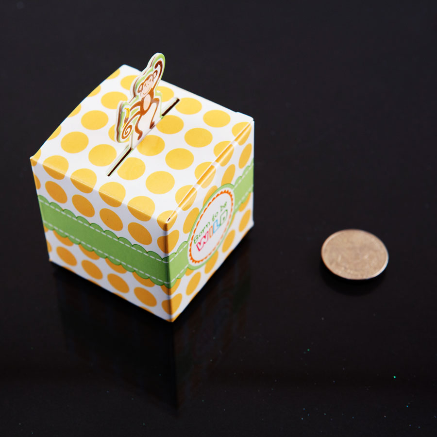 24 Monkey Born to Be Wild Jungle Baby Shower Favor Candy Boxes Party Decoration