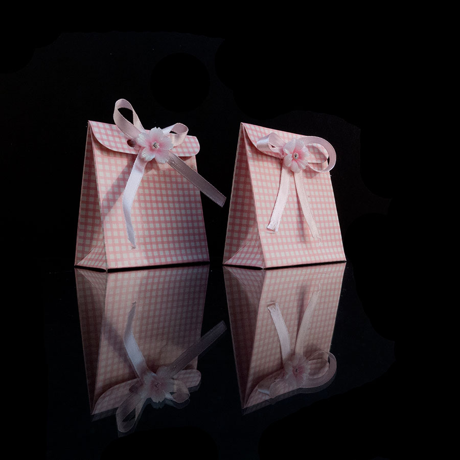 24pcs Pink Box Gift Favor Candy Box Baby Shower Party Decorations