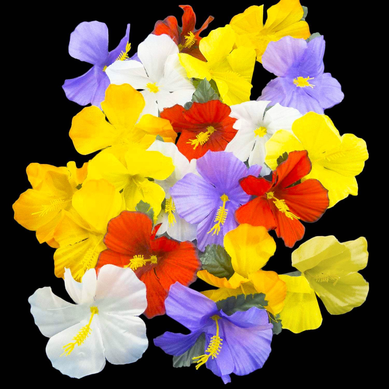 Ifavor123 Hawaiian Luau Hibiscus Tropical Flowers Scatter Loose