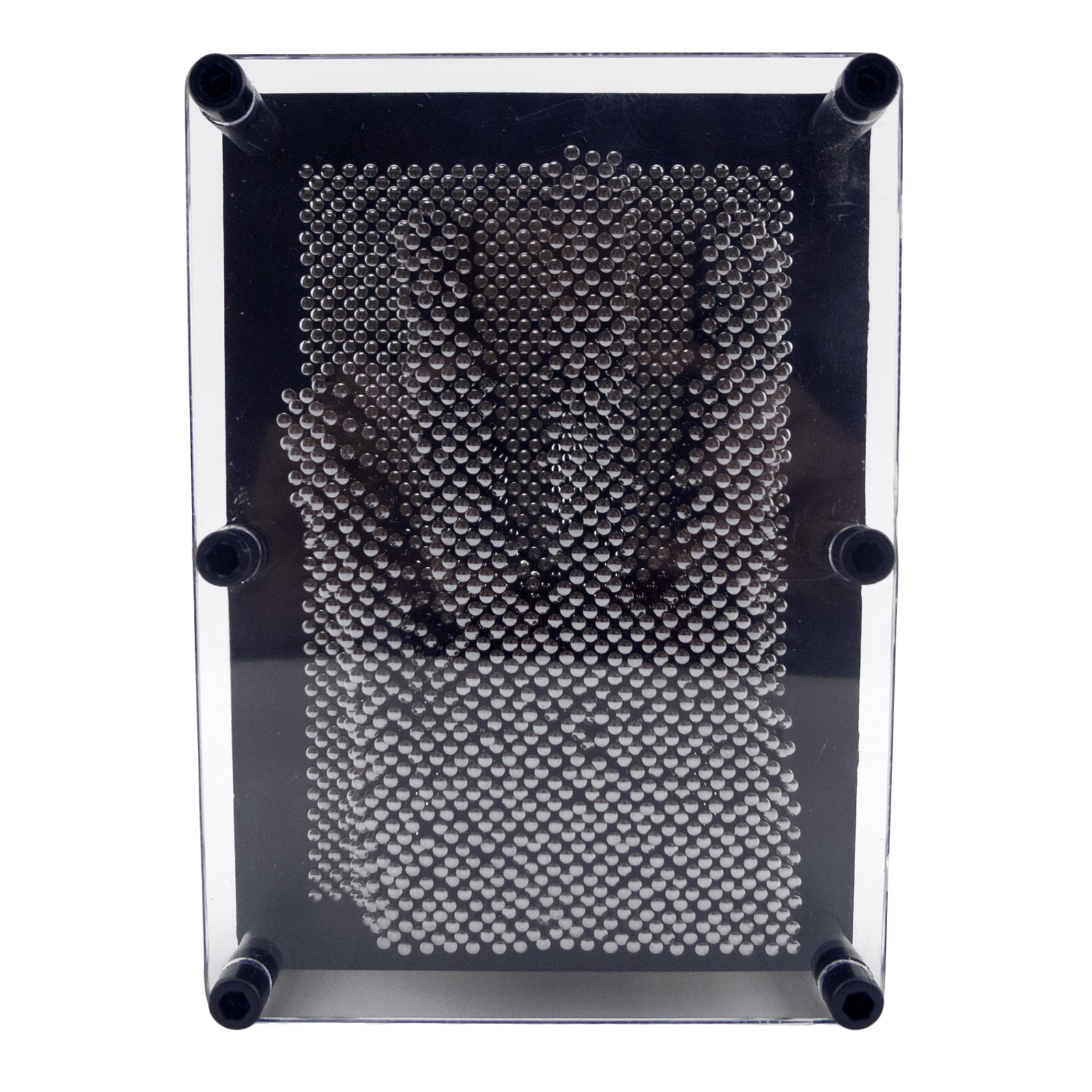"Classic 3-D Metal Pin Art Toy Board Sculptures Silver Pins Impression 4/"" X 5/"""