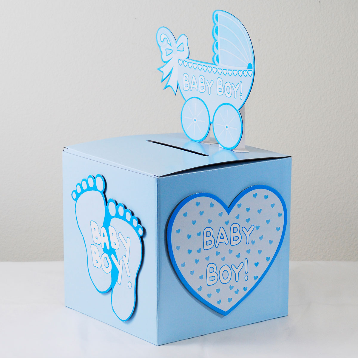 Ifavor123 Com Babyshower Wishing Well Card Gift Or Money Box Boy